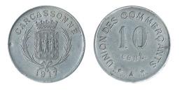 N2498 - Carcassonne: Union Des Commerçants: 10 Ct 1917 - Monétaires / De Nécessité