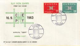 Turkye - FDC 16-9-1963 - Europa/CEPT - M 1888-1889 - Europa-CEPT