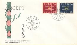 Noorwegen - FDC 14-9-1963 - Europa/CEPT - M 498-499 - Europa-CEPT