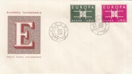 Griekenland - FDC 16-9-1963 - Europa/CEPT - M 821-822 - Europa-CEPT