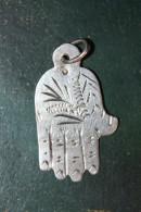 """Pendentif Médaille Religieuse Musulmane Artisanale Argent 925 """"Main De Fatma"""" Silver Religious Cross - Godsdienst & Esoterisme"""