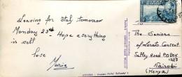 9814 Ethiopia,  Circuled Card  1956 As Scan - Ethiopia