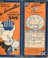 Carte Géographique MICHELIN - N° 026 - MARTIGNY-MILANO - N° 42-367 - Wegenkaarten