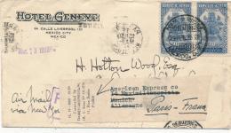 MEXICO - 1936 , Brief Nach Paris - Mexico