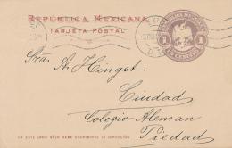 MEXICO - 1911 , TARJETA POSTAL , Post Card - Deutscher Frauenverein - Mexico