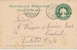 CUCURSAL - 1904 ,  TARJETA POSTAL , Reply Post Card - Mexico