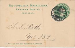 MEXICO - 1904 ,  TARJETA POSTAL , Reply Post Card - Mexico