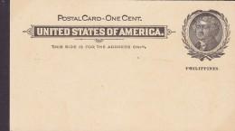 United States Of Amerika Philippines Postal Stationery Ganzsache Entier 1900? 1 C. Jefferson Postal Card (Unused) - Philippines