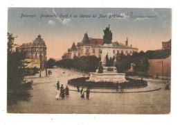 CPA  Roumanie BUCAREST Boulevard Carol & Statue De Joan Bratianu 1919 - Roumanie