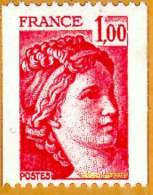 France**LUXE 1978 P 1981Ab (3 Bandes Phospho) Vf 1,oo F. Rouge, Marianne Type Sabine, Non Dentelé Verticalement, De Roul - Unused Stamps
