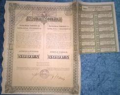 ASTRA ROMANA OIL REFINERY COMPANY, SHARES, STOCK, REVENUE COUPONS, 1945, ROMANIA - Aardolie