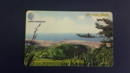 St.helena-view Of Prosperous Bay-(2)-(325cshb000083)-tirage-1200-used Card+2card Prepiad Free - Sainte-Hélène