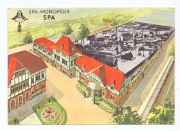 B 4900 SPA, Werbe-Karte SPA MONOPOLE, Mineral-Wasser, 1963 - Spa