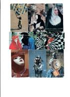 Italia Il Il Folklore Regionale Validità 31 12 1995 Serie Completa 8 Schede Telefoniche 80000 Lire Cod.schede.086 - Public Themes