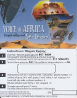 GREECE - Voice Of Africa Prepaid Card 5+1 Euro, Sample - Greece