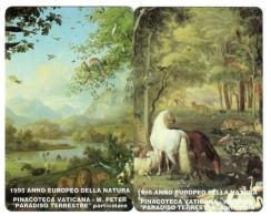 Vaticano 1995 Annd Europeo Della Natura Validità 01 04 1997 2 Schede Telefoniche 15000 Lire Cod.schede.087 - Vatican