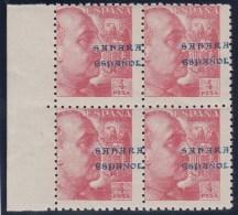 ESPAÑA/SAHARA 1941 - Edifil #61 - MNH ** - Bloque De 4 !Muy Raro! - Sahara Español