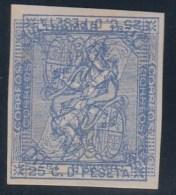 ESPAÑA 1873 - Edifil #135 Azul - Doble Impresión Invertida - Nuevos