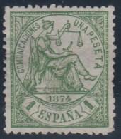 ESPAÑA 1874 - Edifil #150 - MLH * - 1873-74 Regentschaft