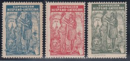 ESPAÑA/SEVILLA 1914 - VIÑETAS  EXPOSICION HISPANO AMERICANA - Viñetas De Fantasía