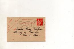 France Carte Lettre Du 4 Aout 1934 De Antibes Pour Chissay En Touraine - Postal Stamped Stationery