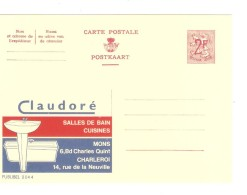 Entier CP Publibel Claudoré Salles De Bain 2044  FN Neuf-Nieuw-Mint EPR00947 - Publibels