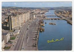 {41498} 62 Pas De Calais Boulogne , Quai Gambetta ; Vue Aérienne ; Ponts , Voitures , Bateaux - Boulogne Sur Mer
