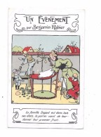 CPA Illustrée Par Benjamin RABIER , Un évènement, Au Verso Publicité JOUET Frères à TOURS - Rabier, B.