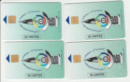 Bénin - 4 Télécarte Différentes Sommet De La Francophonie 1995 - 2 Scans - Bénin