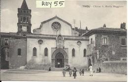 Lazio-tivoli Veduta Piazzale Chiesa S.maria Maggiore Animata Primi 900 - Tivoli