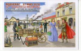 VEYRI   BERGERAC  28° SALON DE LA COLLECTION  EXPO  L HISTOIRE DU CHEMIN DE FER 2016 - Veyri, Bernard