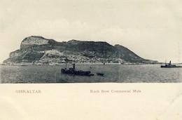 GIBRALTAR, Rock From Commercial Mole, 2 Scans - Gibraltar
