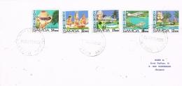 BR 815 SAMOA BRIEF YVERT  490/494  ZIE SCAN - Samoa