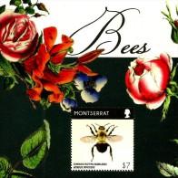 Montserrat - 2015 - Bees - Mint Souvenir Sheet - Montserrat