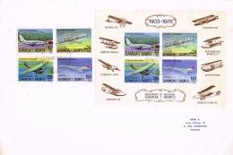 BR 818 SAMOA BRIEF YVERT  404/407 + BL 15  ZIE SCAN - Samoa
