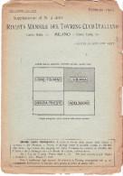 CARTA TOURING CLUB ITALIANO - LUBIANA - FRONTE DI GUERRA - 1917 - Carte Topografiche