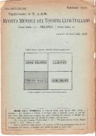 CARTA TOURING CLUB ITALIANO - GORIZIA-TRIESTE - FRONTE DI GUERRA - 1917 - Carte Topografiche