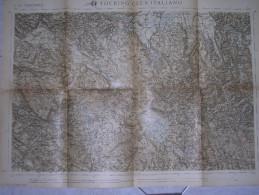 CARTA TOURING CLUB ITALIANO - ADELSBERG - FRONTE DI GUERRA - 1917 - Carte Topografiche
