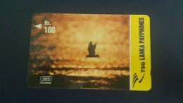 Sri Lanka-(44srlf)-flying Bird At Sunset Gpt-(rs.100)-used Card+1card Prepiad Free - Sri Lanka (Ceylon)
