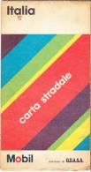 CARTA STRADALE  - ITALIA - 1:1.000.000 - MOBIL - 1970 - DEAGOSTINI - ODASA - Carte Stradali