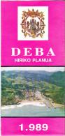 CARTA TOPOGRAFICA ILLUSTRATA  - DEBA - SPAGNA - 1989 - Carte Topografiche