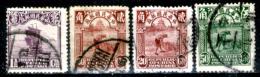 Cina-F-238 - 1923-33 - Y&T N. 182, 194, 194, 196 (o) Obliterated - Privo Di Difetti Occulti - - 1912-1949 Repubblica