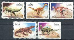 166 CUBA 1999 - Yvert 3780/84 - Faune Prehistorique Dinosaure  Neuf ** (MNH) Sans Trace De Charniere - Ungebraucht