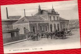 28 NOGENT LE ROTROU - La Gare - Jolies Calèches Et Cochers - Col. Louis HESSENBRUCH - TBE -  R/V - Nogent Le Rotrou