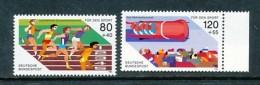 GERMANY Mi.Nr. 1269-1270 Sporthilfe- Leichtathletik-Europameisterschaften - MNH - BRD