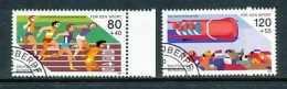 GERMANY Mi.Nr. 1269-1270 Sporthilfe- Leichtathletik-Europameisterschaften - Used - BRD