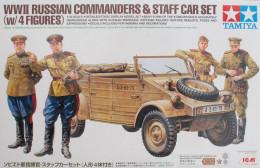 WW2 Russian Commanders & Staff Car + 4 Figures  ( 1/35 Tamiya ) - Military Vehicles