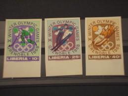 LIBERIA - 1968 GRENOBLE 3 VALORI ND - NUOVI(++) - Liberia