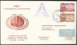 Yugoslavia Belgrade 1965 / 15 Years Of The First JAT Flight Belgrade - Munich - Airplanes