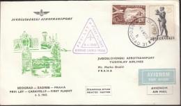 Yugoslavia Belgrade 1965 / The First JAT Flight Belgrade - Zagreb - Prague - Vliegtuigen